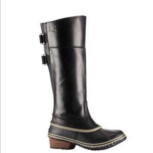 Sorel Slimpack Tall Black Waterproof Duck Boot 8.5